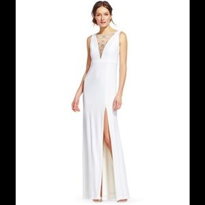 Adrianna papell Jersey embellished gown